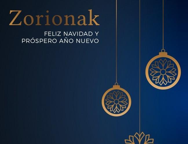 Feliz Navidad y Próspero Año Nuevo. Zorionak eta Urte Berri On